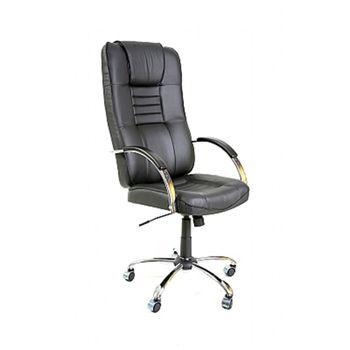 Cadeira Presidente Giratória com Relax Apoio do Braço em PU Base Cromado Ref. 701 Com braço