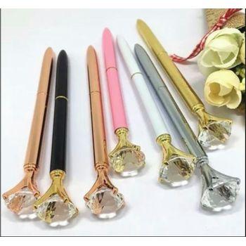 kit-com-10-canetas-diamante-esferografica-luxuosa-caneta-diamante