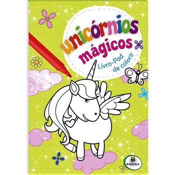 unicornios-magicos-livro-pad-de-colorir-verde-unicornios-magicos-liv-9788537643365
